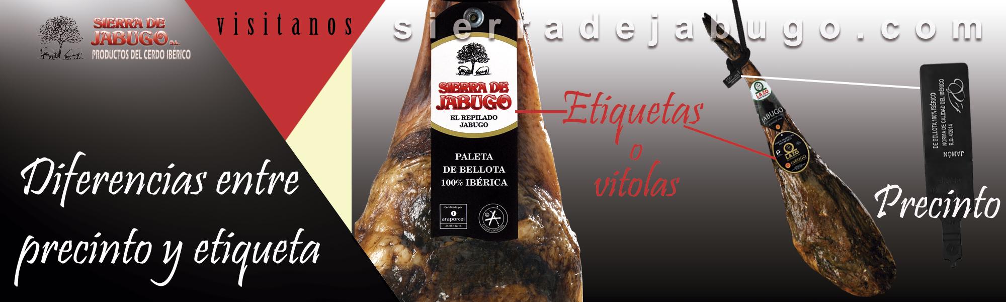 differences between label and seals ? iberian ham sierra de jabugo