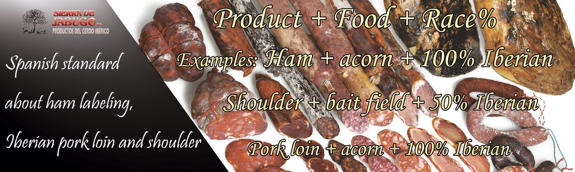 Iberian products pata negra ham