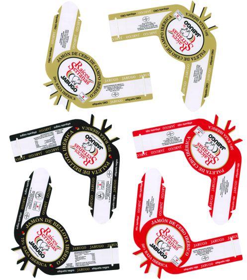 Vitolas o etiquetas del jamón o paleta