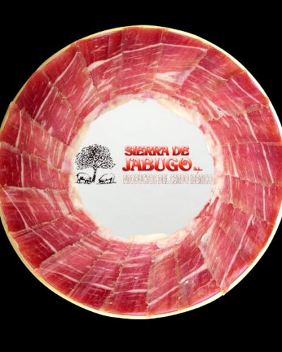 Iberian bellota ham sliced